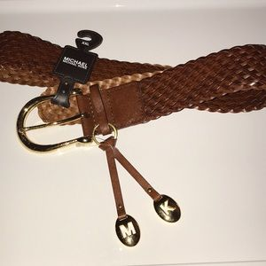 Michael Kors brown braided belt.